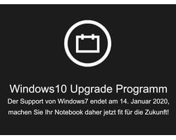 Windows10-Upgrade, kommend von Windows 7